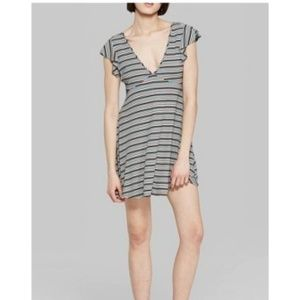 Wild Fable Striped Flutter Sleeve Mini Dress